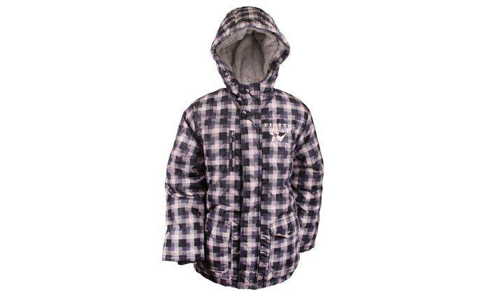 Digital Gray chlapecká zimní bunda