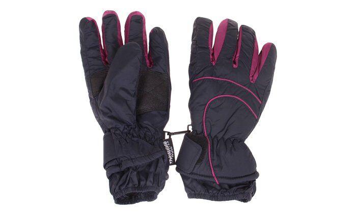 Dětské lyžařské rukavice fialové