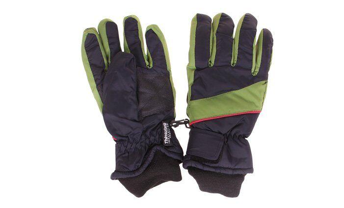 Dětské lyžařské rukavice zelené
