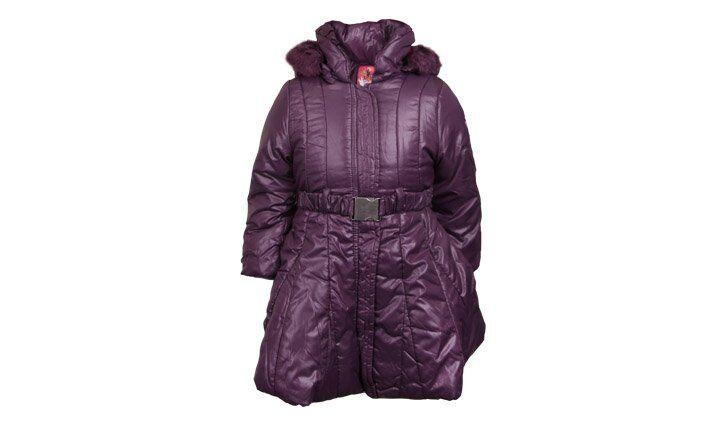 Dívčí zimní kabát fialový