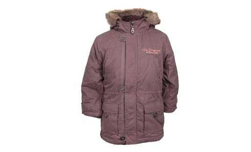 obrázok Chlapčenský kabát s kapucňou hnedý veľ. 158