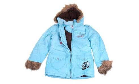 obrázok Dievčenská zateplená bunda svetlomodrá veľ. 152