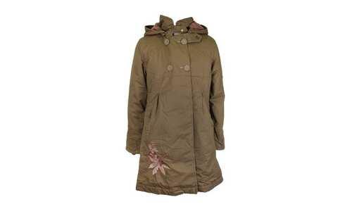 obrázek Dívčí dlouhý kabát khaki vel. 92