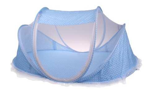 obrázek Dětská skládací postýlka - moskytiéra modrá