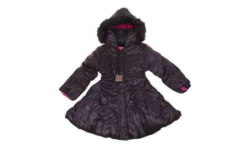 obrázek Dívčí zimní kabát černý vel. 92