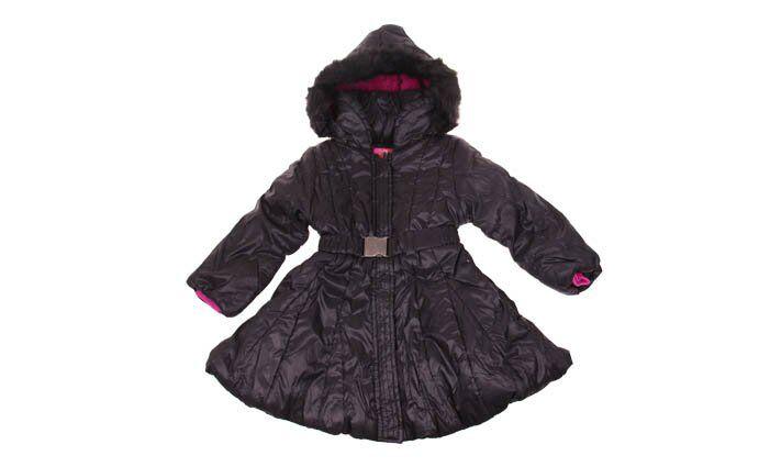 Dívčí zimní kabát černý