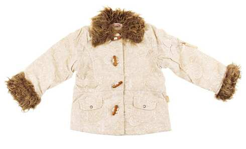 obrázek Dívčí kabátek s kožíškem vel. 116
