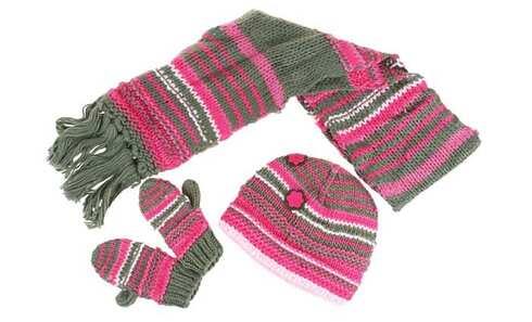 obrázek Dívčí pletený zimní set vel. XL