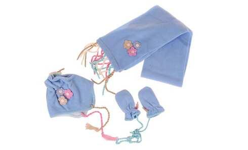 obrázek Dívčí zimní set modrý S