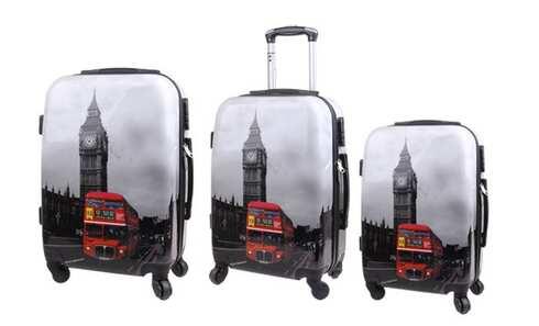 obrázek Sada 3 kufrů (Big Ben Bus)