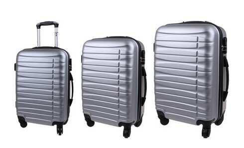 obrázek Sada 3 kufrů stříbrná