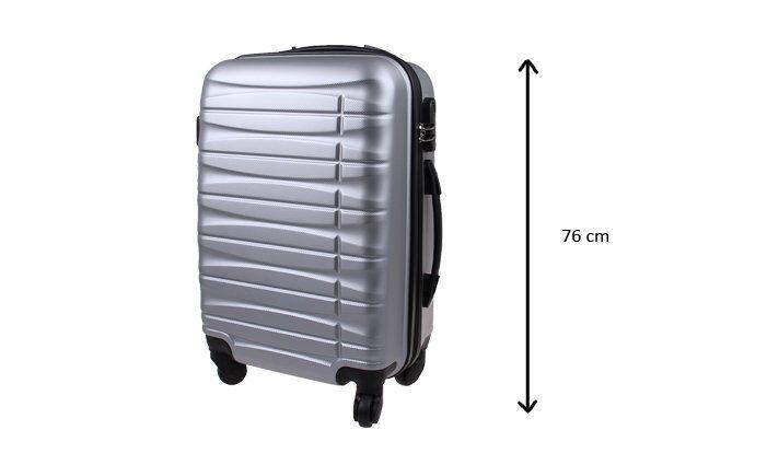 Kufr velký stříbrný
