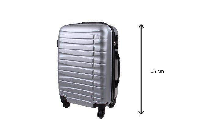 Kufr střední stříbrný