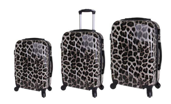 Sada 3 kufrů (Leopard)