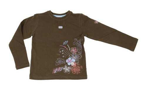 obrázek Dívčí tričko hnědé vel. 104