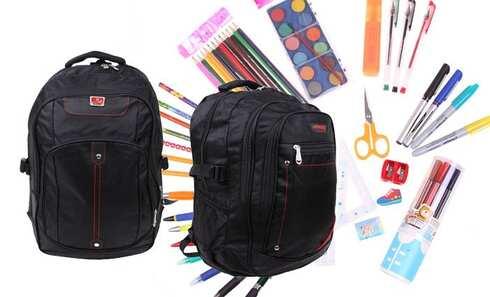 obrázek Batoh černý s náplní školních potřeb