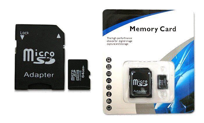 MC Micro SDHC 64GB paměťová karta + SD adaptér