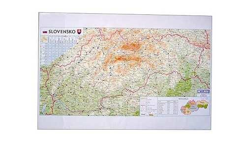 obrázek 5x podložka na psací stůl s mapou SK