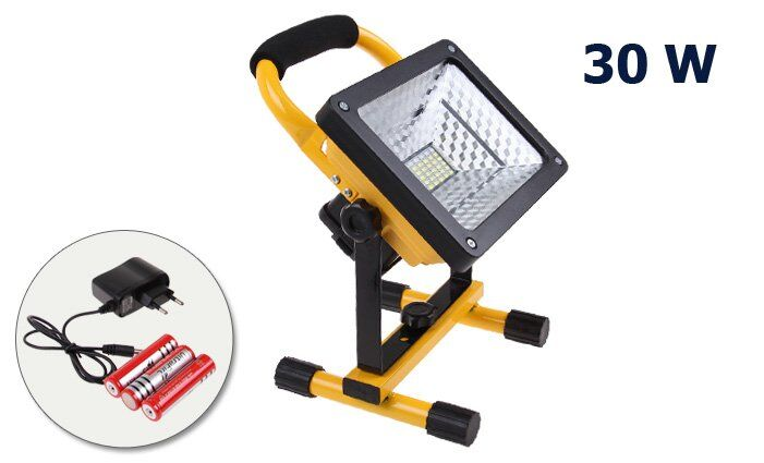 LED Reflektor 30W outdoor velký + dobíjecí baterie