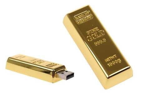 obrázek Flash disk USB 8 GB – zlatá cihlička