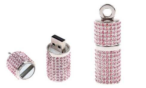obrázok Flash disk USB 8 GB - válec růžová