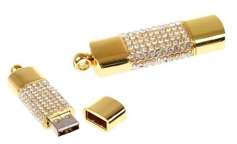 obrázek Flash disk USB 8 GB – šperk zlatá