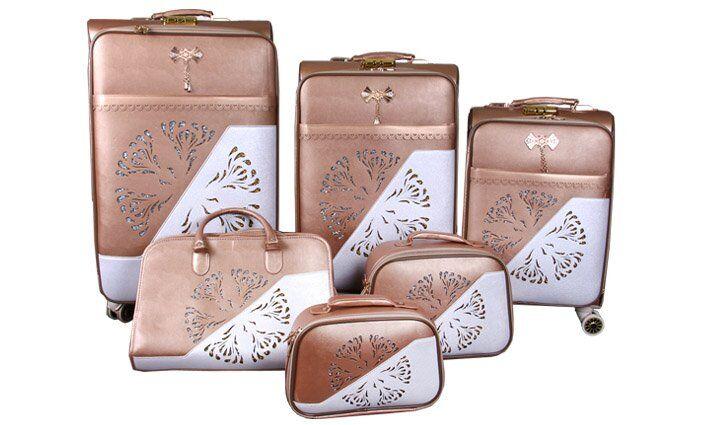 Sada 6 cestovních kufrů Luxi ornament