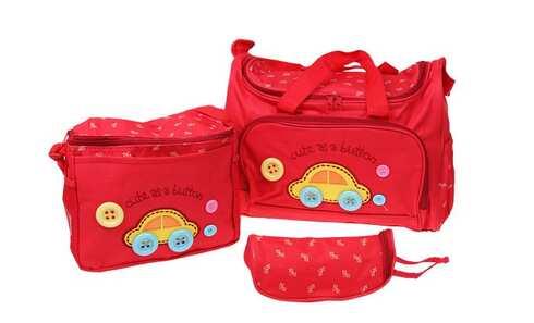 obrázok Prebaľovacia taška set 3 ks červená