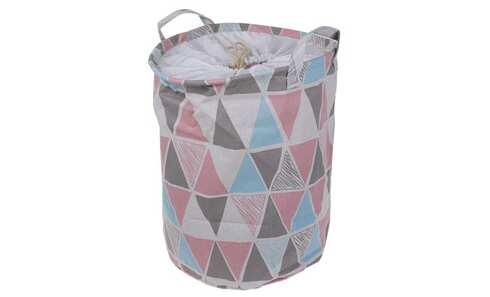 obrázek Koš na prádlo růžový abstrakt