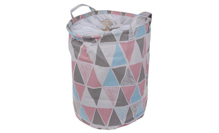 Koš na prádlo růžový abstrakt