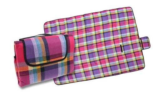 obrázek Pikniková deka fialovo růžová