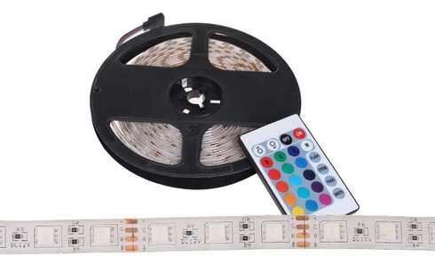obrázok LED pásik 5 metrov - RGB+BIELÁ