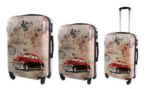 obrázok Sada 3 škrupinových kufrov (Paris Car)
