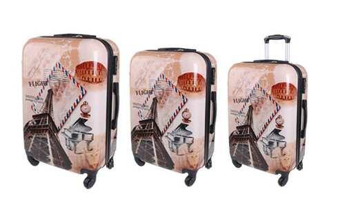 obrázek Sada 3 skořepinových kufrů (Letters)