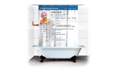 obrázek Sprchový závěs Sociální síť