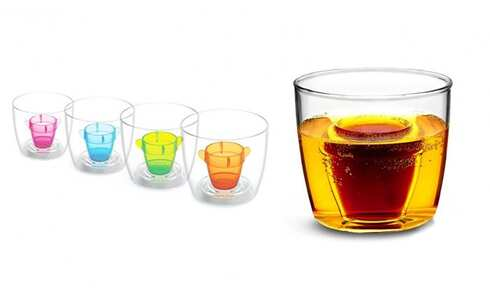 obrázok THE DRINKS LAB Bomber Cups poháriky 4 ks