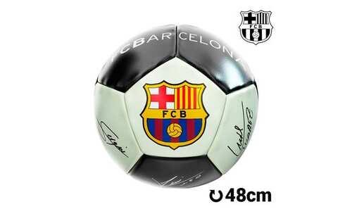 obrázek Střední fosforeskující fotbalový míč FC Barcelona