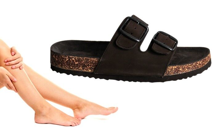 Zdravotní pantofle dámské hnědé