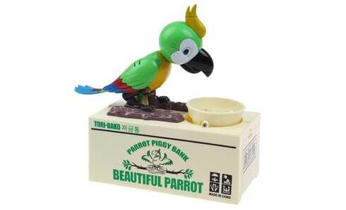 obrázok Papagáj pokladnička na drobné mince