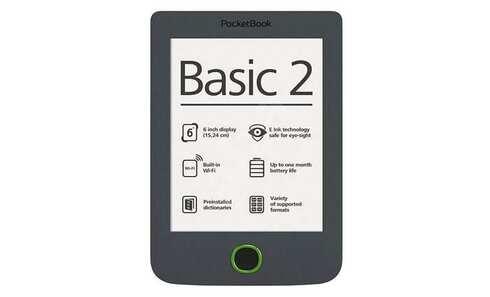 obrázok Čítačka kníhPOCKETBOOK 614 Basic 2 (PB614B2G), tmavě šedá