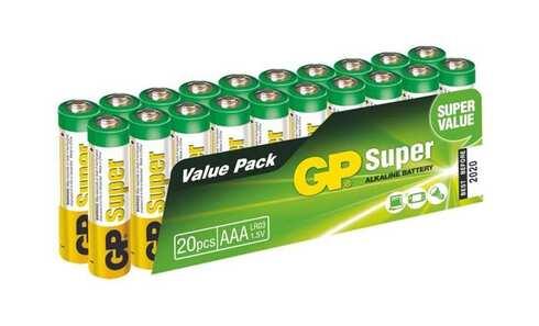 obrázek Alkalické baterie GP Super AAA 20ks
