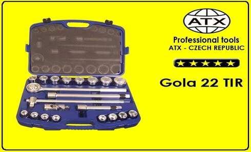 """obrázok Gola kľúče súprava - 22 dielov, 3/4"""", ATX"""