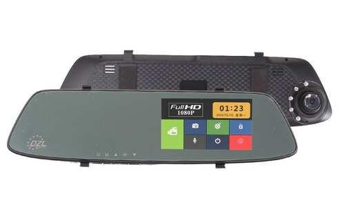 obrázek Autokamera dotykové zpětné zrcátko DVR Full HD 1080P
