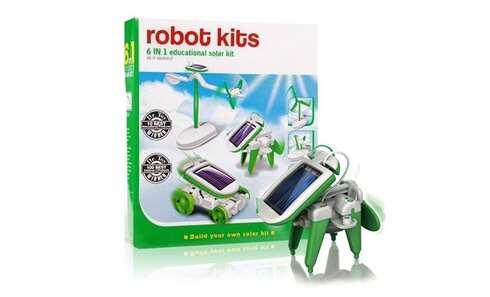 obrázok Solar Robot Kits 6 v 1- zelený