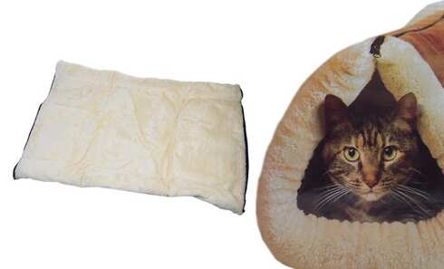 obrázek Plyšový pelíšek a podložka pro kočky 2 v 1