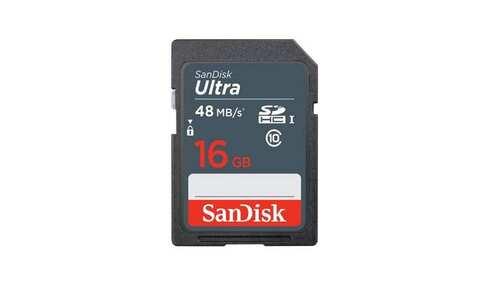 obrázek Paměťová karta SANDISK Ultra SDHC 16 GB 48 MB/s Class 10 UHS-I