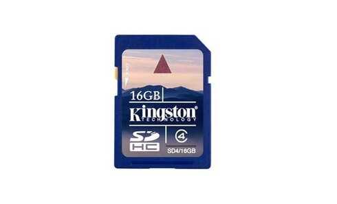 obrázek Paměťová karta KINGSTON SDHC 16GB Class 4 (SD4/16GB)
