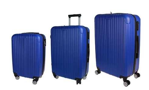 obrázok Sada 3 kufrov - škrupinové t.1901 modrá