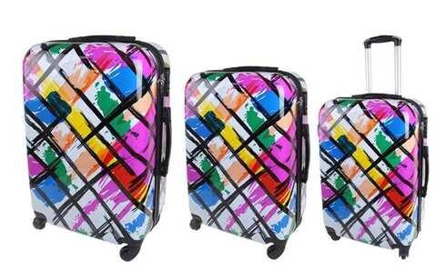 obrázek Sada 3 skořepinových kufrů (Abstrakt)