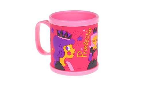 obrázek Hrnek dětský plastový (růžový s princeznou)